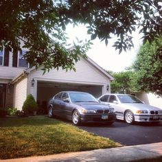 Hey that looks like our cars almost!!! Our Home .... My E36 BMW M3 .... And My E46 BMW 330i