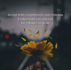 Accept both compliments and criticism..