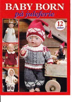 Trico Croche & Artesanato: Baby Born -Knitting and Sewing Dolls Magazine, Knitting Dolls Clothes, Sewing Dolls, Knitted Dolls, Ag Dolls, Doll Clothes Patterns, Doll Patterns, Baby Knitting, Crochet Baby, Baby Born Clothes