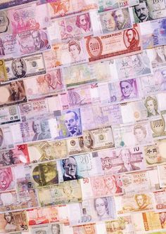 to display foreign money collection
