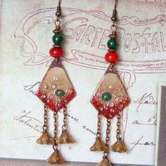 Boho Earrings Bohemian Earrings Hippie Chic Dangle