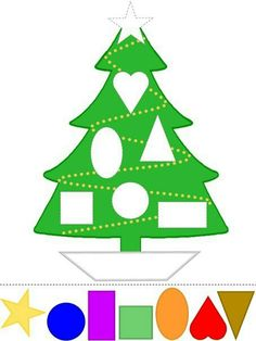Christmas tree fun with colors and shapes preschool printable crafty cut and paste activity. Christmas Crafts For Kids, Holiday Crafts, Christmas Trees, Christmas Events, Christmas Tree Printable, Christmas Tree Template, Christmas Worksheets, Christmas Countdown, Xmas Tree