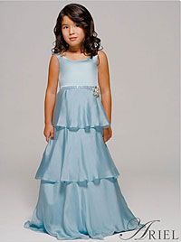 SALE! Disney Couture Dress Style KB-A2871- ARIEL-Floor Length, Scoop Neck 3 Tiered Dress with Beaded