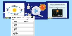 Sun Moon and Earth Overview Differentiated Lesson Teaching Pack Earth Sun And Moon, Sun Moon, Free Teaching Resources, Teaching Tools, Teaching Packs, Powerpoint Lesson, Stem Science, Earth From Space, Differentiation