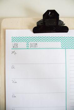 Beter plannen? Download 12 free weekplanners van mijn website…