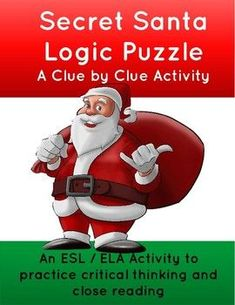A holiday-themed logic puzzle. Five friends have a Secret Santa party. But who gave what to whom? Perfect to practice critical thinking and logic skills such as evaluating evidence, deducing, and mathematical reasoning. Can your students follow the clues to figure out which gift everyone got? And wh...