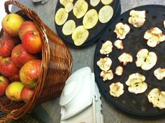 Apple chips made with pampered chef microwave chip maker & mandoline