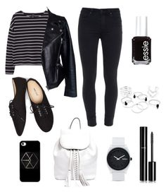"""""""Untitled #225"""" by bethsalash ❤ liked on Polyvore featuring MANGO, Alexander McQueen, Paige Denim, Wet Seal, Nixon, Rebecca Minkoff, Chanel, Essie, women's clothing and women's fashion"""