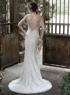 maggie sottero fall 2015 wedding dresses beautiful sheath gown spagetti strap v neckline pearl beaded bodice miela back Maggie Sottero Wedding Dresses, 2015 Wedding Dresses, Wedding Dress Styles, Wedding Gowns, Bridesmaid Dresses, Bridesmaids, Prom Dresses, Wedding Gown Gallery, Bridal Gallery