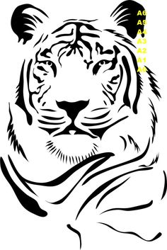 Tiger Portrait Vinyl Lettering animal Decal wall words graphics Home decor bedroom itswritteninvinyl. via Tiger Portrait Vinyl Lettering animal Decal wall words graphics Home decor bedroom itswritteninvinyl. via Etsy. Tiger Stencil, Animal Stencil, Stencil Art, Stenciling, Tiger Vector, Vector Vector, Vector File, Vector Stock, Tiger Images