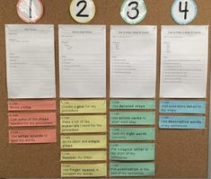 Procedural Writing Bump It Up Wall.Success criteria and exemplars for level 1, 2, 3, and 4. Organized by title, goal, material, and steps.Students can self-assess their own work and use the bump it up wall to work towards a level 3 or 4.Ontario Curriculum.You can blow up the different exemplars on ledger paper.