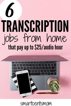 Transcription jobs from home are a great way to work flexible hours and make extra money! If you love being in a quiet place and have great attention to detail this could be your next side hustle. by smartcents Read Transcription Jobs From Home, Transcription Jobs For Beginners, Earn Money From Home, Way To Make Money, Make Money Online, Job Work, Making Extra Cash, Marketing Program, Be Your Own Boss