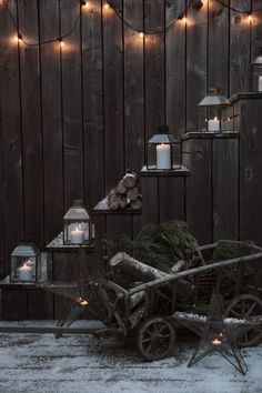 Alpine Retreat | Christmas Inspiration | Outdoor  Living | Festive candles and lanterns help give your outdoor space a little seasonal update!