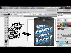 ▶ Using Fonts to make awesome T-Shirt designs..Illustrator CS5/6 - YouTube