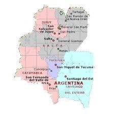 Resultado de imagen para regiones del noa