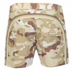 MID-LENGTH CAMOUFLAGE POLYESTER BOARDSHORTS WITH RAINBOW BANDS - Low rise camouflage polyester boardshorts with the three classic rainbow bands on the back, internal mesh, Sundek logo on the back, fixed waist with adjustable drawsting and Velcro fly, a Velcro back pocket. #sundek #beachwear #beach #sales #mrbeachwear #boardshort #men #summer #sun  #fashion #springsummer2014 #summer2014 #camouflage