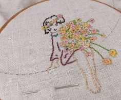 May Blossom detail by Bustle & Sew, via Flickr