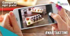 ¡Si te pasas el día subiendo fotos a las redes sociales, este es el momento de sacarle partido! Comparte con todos nosotros tus mejores imágenes de los platos de Makitake Urban Sushi Shop empleando en Instagram el hashtag #MakitakeTime. Sólo tienes que avisar a uno de los camareros del restaurante en el que te