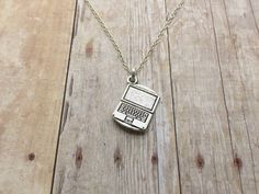 Vintage Laptop Necklace Gift for Computer Techy by UniqueAnomaly