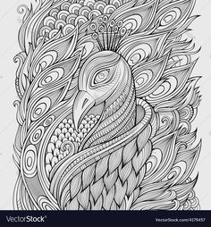 Printable coloring pages, coloring sheets, adult coloring pages, colori Adult Coloring Pages, Peacock Coloring Pages, Mandala Coloring, Colouring Pages, Printable Coloring Pages, Coloring Sheets, Coloring Books, Color Mind, Coloring Canvas