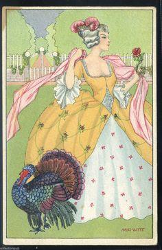 Lady and Turkey