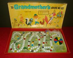 Vintage 1964 to Grandmother's House We Go Metal Board Game by Magic Wand | eBay