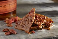 """""""The Filthy Pig"""" - BULLEIT BOURBON™, Niman Ranch BACON, PECANS Whiskey Brittle. WHAT?!"""