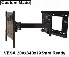 heavy duty dual arm articulating tv wall mount fits sony kdl 48w600b 48 47 6 diag w600b. Black Bedroom Furniture Sets. Home Design Ideas