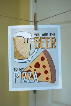pizza and beer; the best match