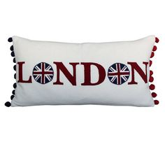 London Union Jack Cushion by JaneHornsby on Etsy, £60.00