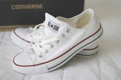 All-star white converse Converse Star, Outfits With Converse, Converse Shoes, Converse Tumblr, Shoes Sneakers, Converse High, White Sneakers, Casual Outfits, Looks Con Converse