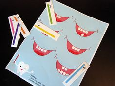 FREE Preschool Tooth Counting Game Printable from http://bitsycreations.blogspot.com