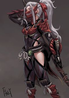 Samurai with Symbiant armor? Anime Warrior, Fantasy Warrior, Fantasy Girl, Fantasy Story, Female Character Design, Character Design Inspiration, Character Art, Cool Anime Girl, Anime Art Girl