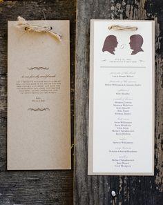 Silhouettes - Wedding Programs ~ Photography by nancyneil.com