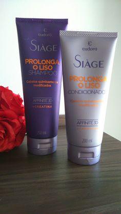 No Espaço da Rô: Shampoo e Condicionador Prolonga o Liso Eudora Siage