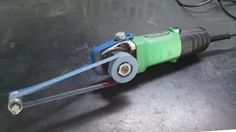 """angle grinder attachment to hold 1"""" sanding belt"""