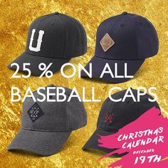 25% off the must-have item from 2015; the baseball cap ! 25% off all of them - offer expires at midnight ! Head over to upfrontcompany.com & use promo code December19 at checkout Stay tuned everyday this month for more great deals  #UPFRONT #UPFRONTCOMPANY #Christmascalendar #UPFRONTChristmas #WearItLikeYouMeanIt