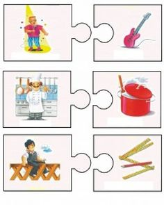 This page has a lot of free easy Community helper puzzle for kids,parents and preschool teachers. Puzzles For Kids, Activities For Kids, Art For Kids, Crafts For Kids, Puzzle Frame, Learn Greek, Community Helpers Preschool, Visual Learning, Kindergarten Math Worksheets