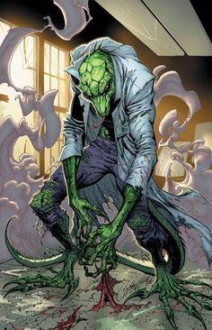 Fan art of 'Spider-Man' villain 'The Lizard'