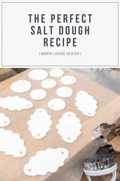 The Perfect Salt Dough Recipe Maria Louise Design Happy New Year Diy Christmas Gifts, Christmas Projects, Homemade Christmas, Kids Christmas, Holiday Crafts, Holiday Fun, Crafts To Make, Fun Crafts, Crafts For Kids