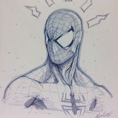 Spider-Man sketch by Alvin Lee
