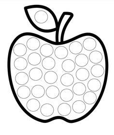Dot Coloring - use bingo markers to make eye & hand coordination fun Preschool Craft Activities, Preschool Writing, Preschool Activities, Preschool Curriculum, Fall Classroom Decorations, School Decorations, Toddler Teacher, Toddler School, Coloring Book Art