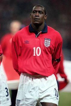 Emile Heskey England National Football Team, England Football, National Football Teams, Emile Heskey, Manchester United Wallpaper, England International, Logo Background, Rain Jacket, Windbreaker