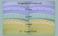 Figgjo Flint - Benta, Grete (1951), Sissel (1954). Design: Ragnar Grimsrud Pottery Marks, Stavanger, Ragnar, Norway, Scandinavian, Retro, Nice, Design, Jars