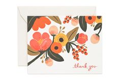 """Garden Single Card - Rifle Paper Co. - (4 1/4""""x 5 1/2"""" when folded) - Blank interior - Matching solid envelopes - Printed full colour on natural white cover paper Gorgeous Things LTD, Lewes, East Sussex"""