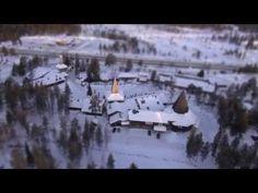 Santa Claus Village in Rovaniemi in Finnish Lapland by air