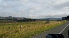 En route to Dunedin from ChCh. Countryside around Dunedin area.
