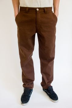 RCM CLOTHING / CHINOS GARDENER | COCOA BROWN  Sustainable Hemp Apparel,  55% hemp 45% organic cotton twill http://www.rcm-clothing.com/