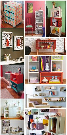 12 Amazing Wooden Crates Furniture Design Ideas - Wooden crates can be an inexpensive way to create almost anything for the home decor. Wooden Crates, Wooden Boxes, Milk Crates, Pallet Furniture, Furniture Design, Ideias Diy, Diy Décoration, Fun Diy, Home And Deco