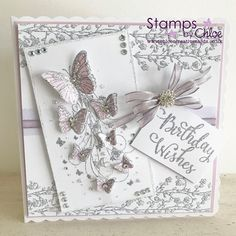 Chloes Creative Cards, Stamps By Chloe, Butterfly Cards, Pretty Cards, Blossom Flower, Happy Birthday Cards, Vintage Cards, Christmas Cards, Card Making